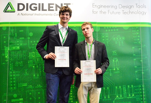 Mr. Vogt (left) and Mr. Braun (right) after winning the Digilent design competition